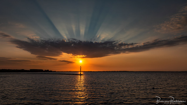 Sunrise Cloud and Sun Rays