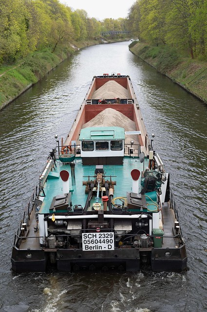 Binnenschiff Teltowkanal 15.4.2020