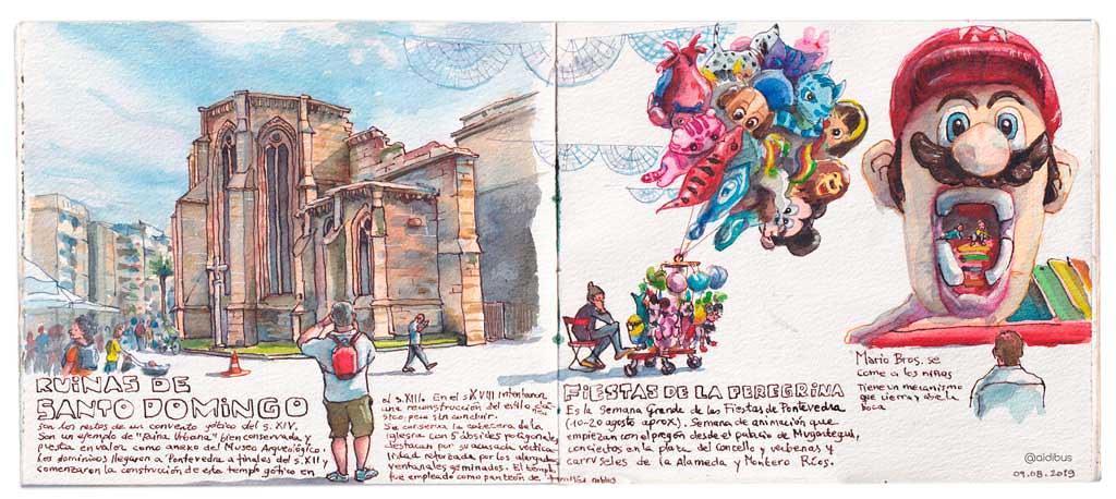 Ruinas de Santo Domingo y fiestas de en Pontevedra