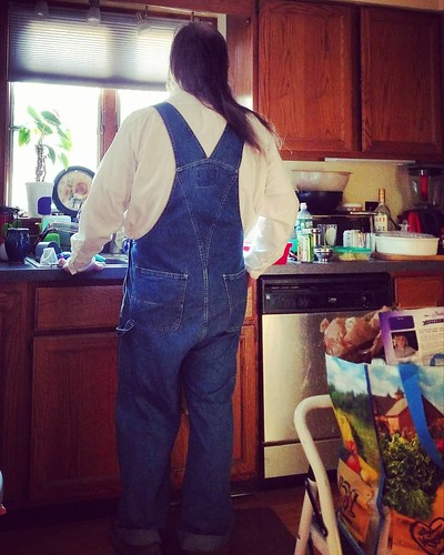 Oh, to have reached another weekend! #sigh #overalls #dungarees #biboveralls #vintage #gap #gapoveralls #bluedenim #denimoveralls #overallsarelife #vintageoveralls
