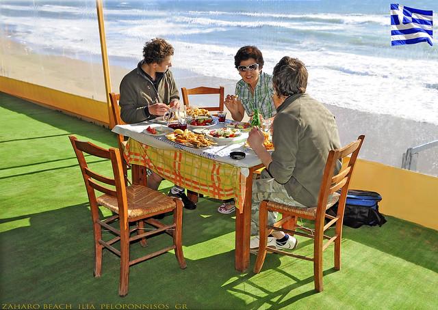 ΕΥΧΑΡΙΣΤΕΡΟ ΠΑΣΧΑ - ՇՆՈՐՀԱՎՈՐ արևելք - С ПАСХОЙ Христос воскрес! Zaharo Beach Ilia Peloponnisos Greece Ελληνικά Ελλαδα (c) 2020 Bernard Egger :: rumoto images 0567 cc2