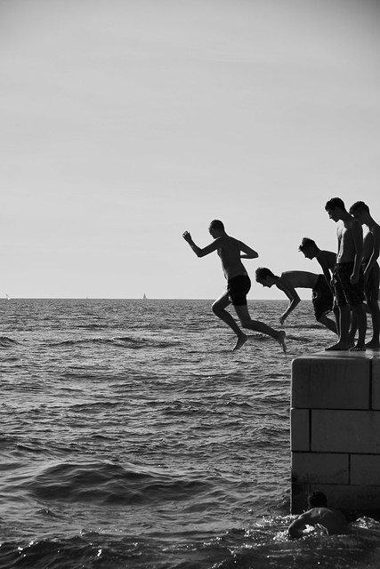 Zadar 2016 - Young guys on the pier
