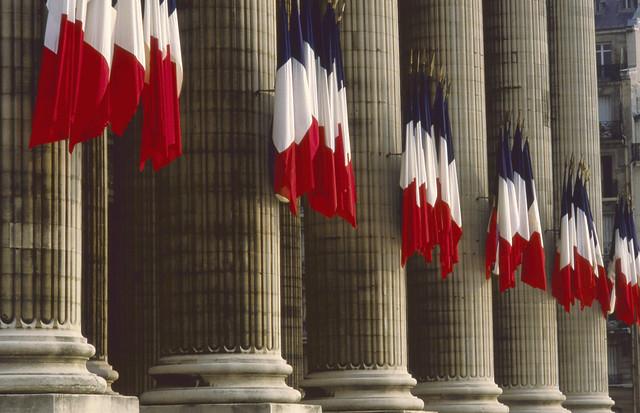 French Flags, Pantheon, Paris 1984-paris235