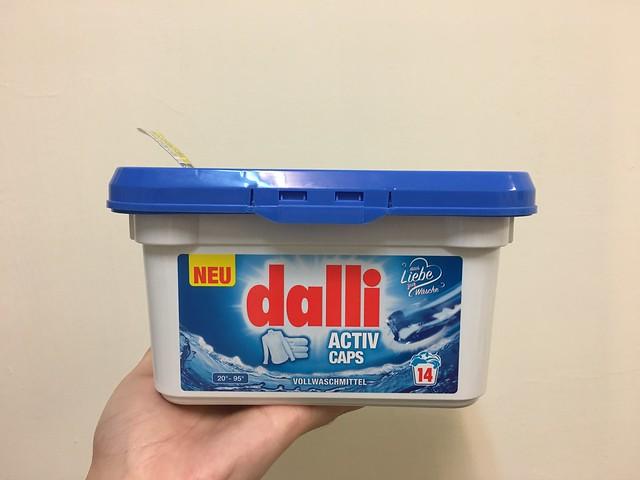 大潤發的dalli洗衣膠囊,一盒 14 顆
