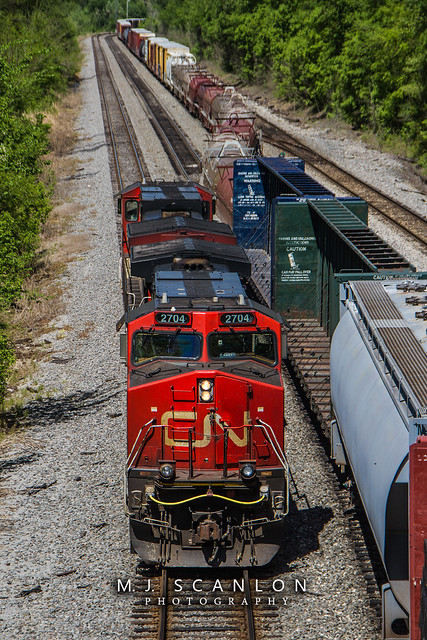 IC 2704 | GE C44-9W | CN Shelby Subdivision