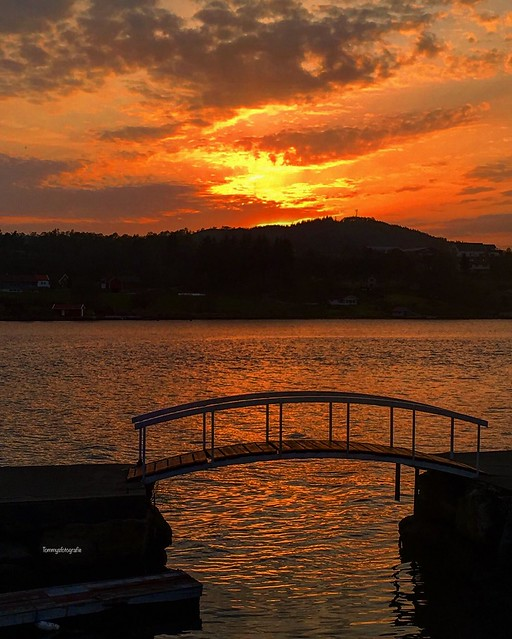 Sunsetbridge Photo taken in Skjoldastraumencamping, Rogaland, Norway