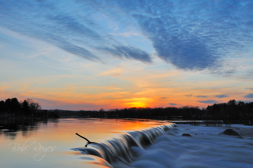 lowell massachusetts sunset sunrise reyes river pawtucketfalls waterfalls falls tramonto d300s nikon