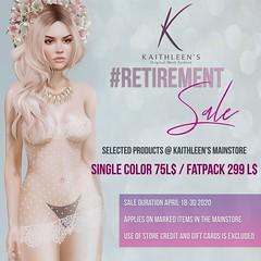 Kaithleen's Retirement Sale April 2020