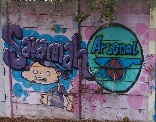 STREET ART OR GRAFFITI ON A WALL IN AN EAST LONDON BOROUGH SUBURB STREET ENGLAND DSCN2811  DSCN2811 F