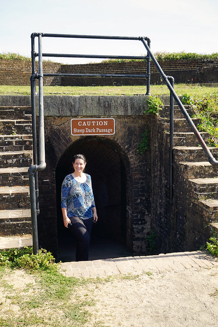 Fort Barrancas 2019, exiting the passage to the water battery