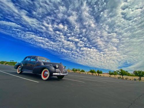 1940 cadillac fleetwood 60 series car automobile suncitywest arizona clouds sky vista view nature natural cool coolshot angle perspective