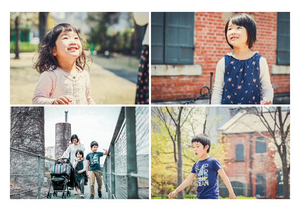 家族写真 兄弟写真 公園でロケーションフォト