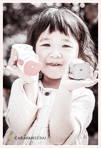 女の子のポートレイト写真