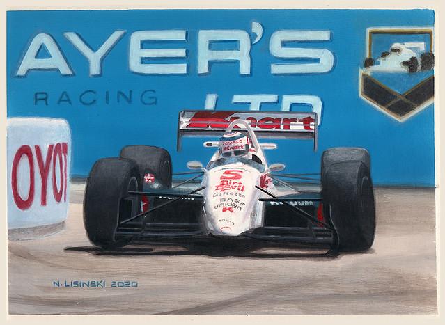 Nigel Mansell LolaT93 Red 5
