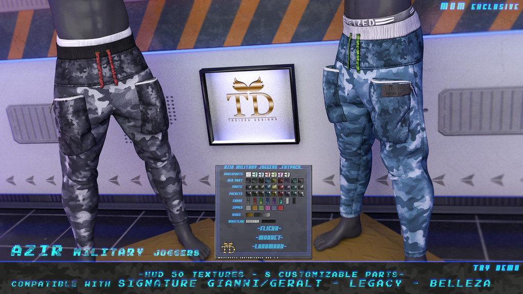 """""""TD"""" Azir Military Joggers FATPACK @MOM"""