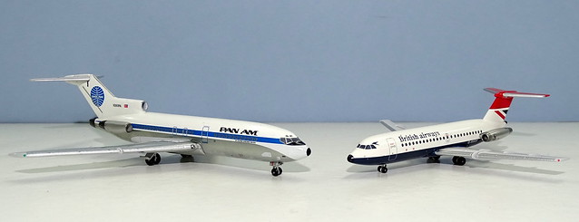 Pan Am Boeing 727-21 vs British Airways BAC One-Eleven