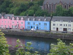 Row of colorful fishermans houses