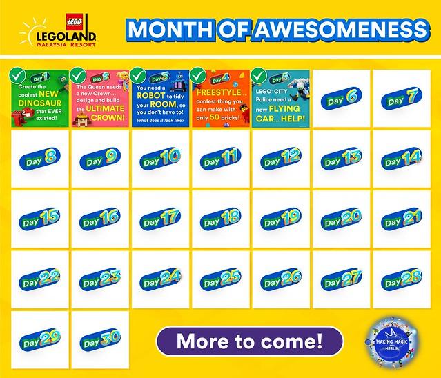 legoland 30 days awesome challenge