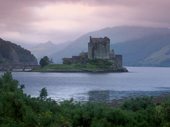 Panoramic view of Eilean Donan Castle, Scotland