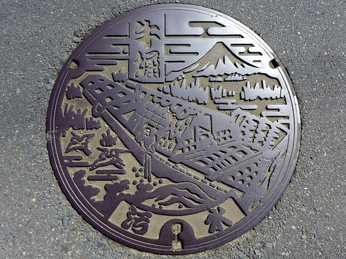 Ushibori Ibaraki, manhole cover (茨城県牛堀町のマンホール)