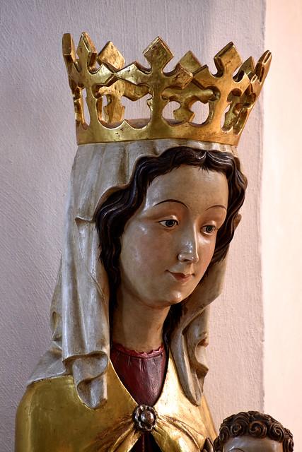 Darup, Westfalen, Pfarrkirche St. Fabian u. Sebastian, sedes sapientiæ, detail