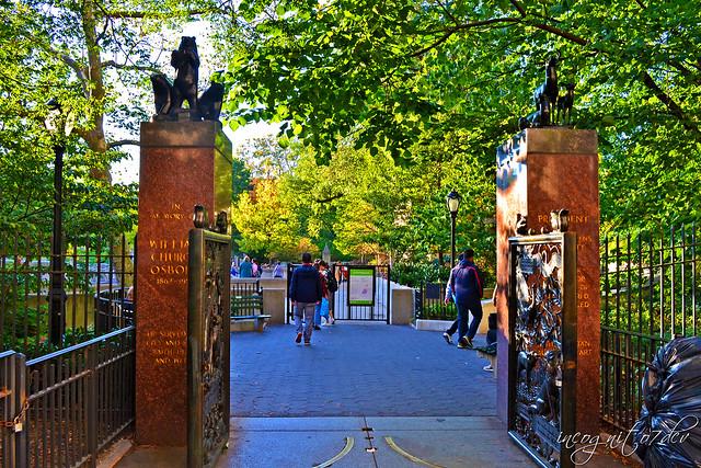 Osborn Gates Central Park Entrance to Ancient Playground E85th St Manhattan New York City NY P00502 DSC_0822
