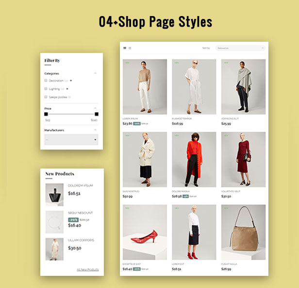 Numerous Fantastic Shop Pages