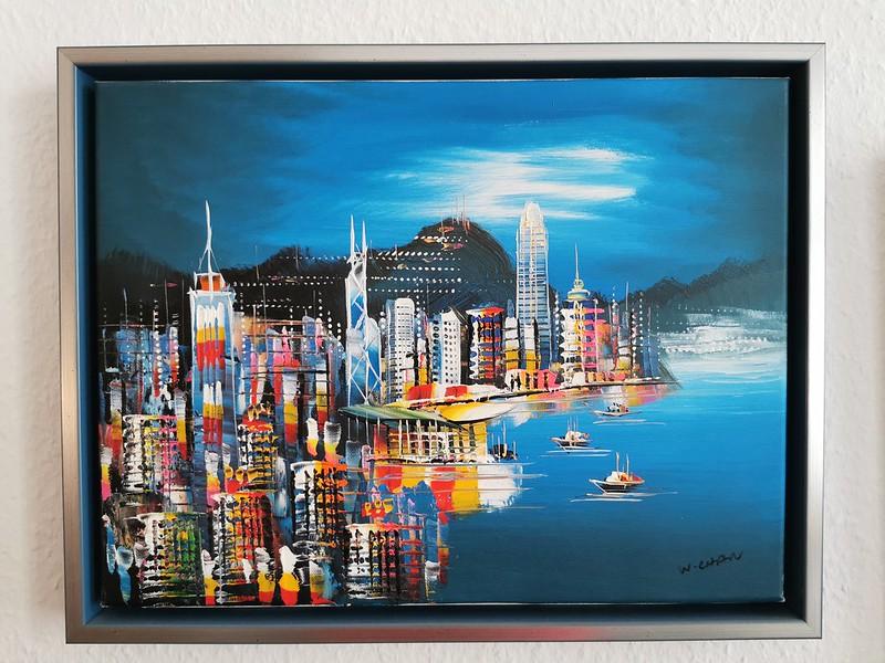 Hong Kong at Night by W. Chan
