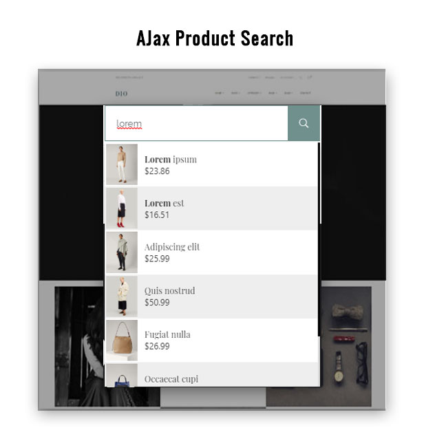 Integrated Search Function