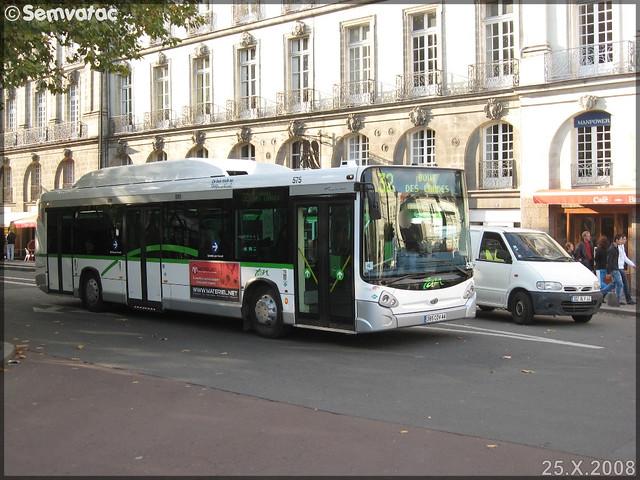 Heuliez Bus GX  327 GNV – Semitan (Société d'Économie MIxte des Transports en commun de l'Agglomération Nantaise) / TAN (Transports de l'Agglomération Nantaise) n°575
