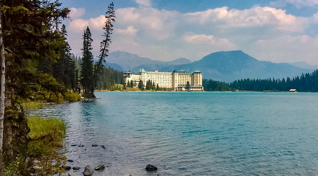 Fairmont Chateau Lake Louise near Banff, Alberta, Canada