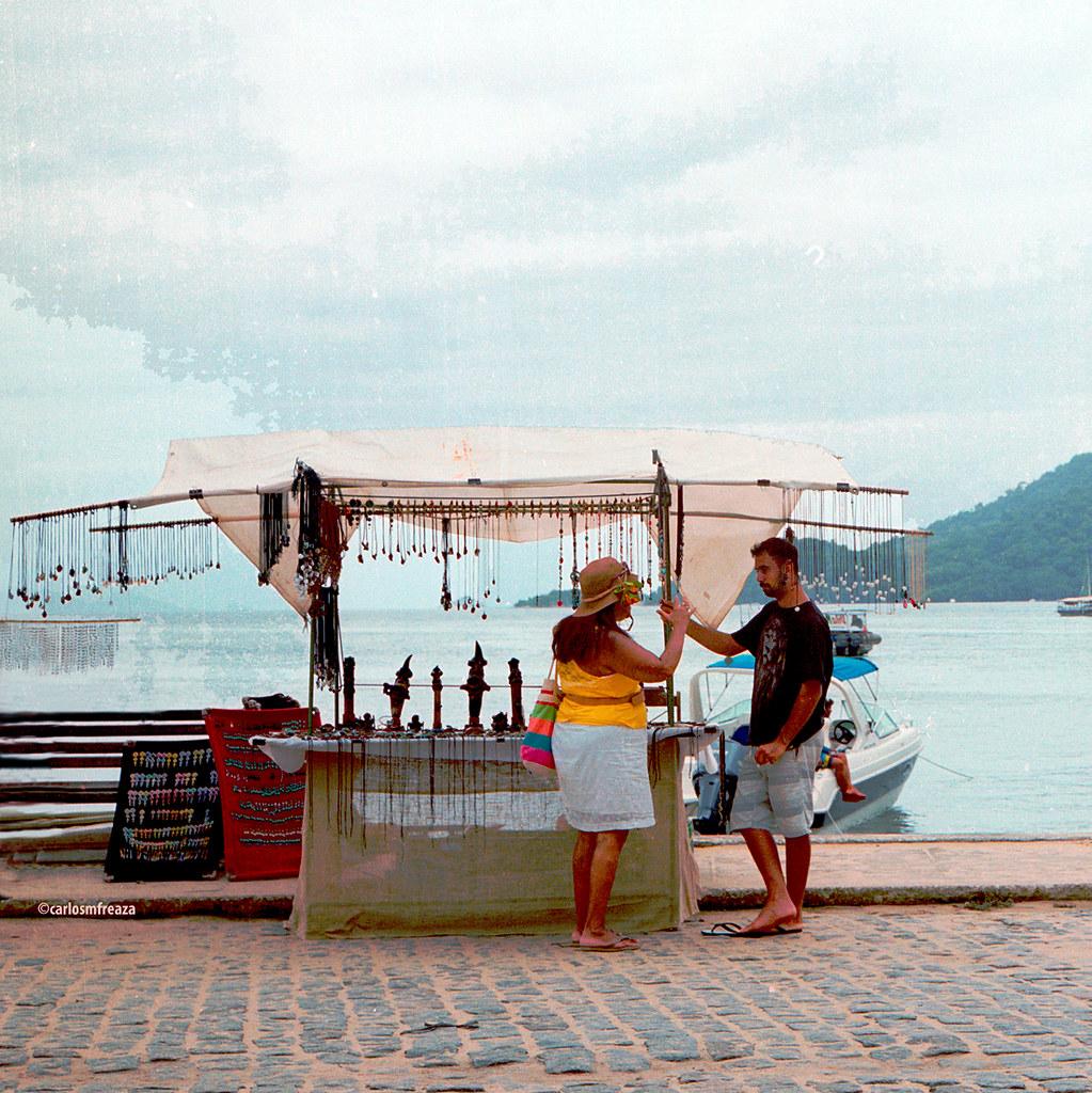 Kiosk in Ilha Grande, RJ, Brazil