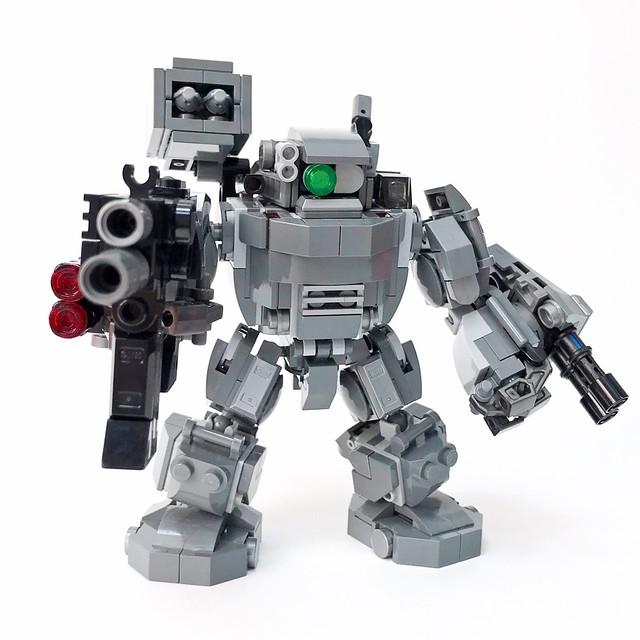 Iron Dwarf Battle Mech + Assault Machine Gun
