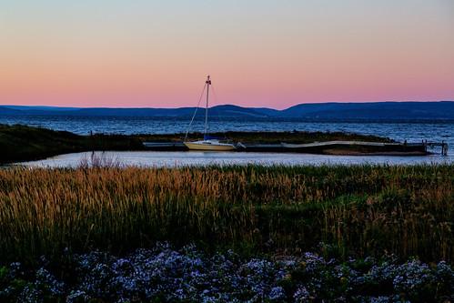 brasdor brasdorlake canada irishcove johnstown novascotia richmond boat boating harbor harbour lake sailboat sunset capebreton capebretonisland