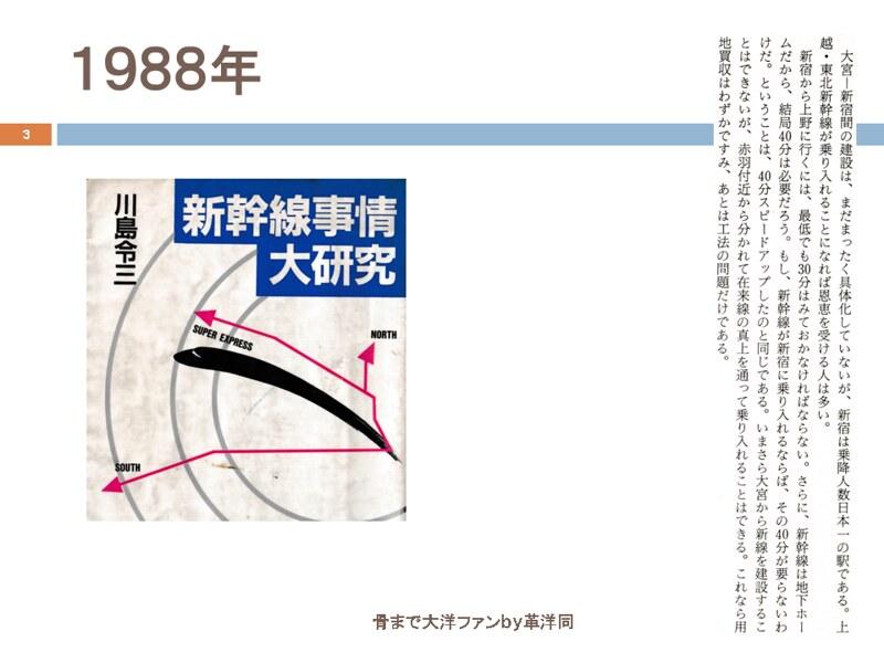 川島令三の上越新幹線新宿ルートの変遷を追う (3)