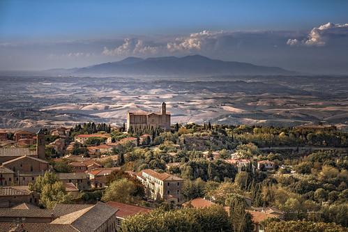 Volterra, Tuscany - view from Palazzo dei Priori.