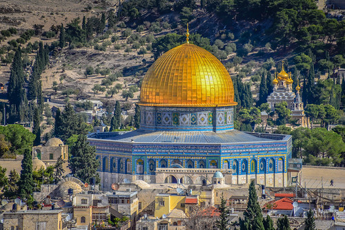 dome rock view from tower david old city jerusalem israel israeli יְרוּשָׁלַיִם القُدس jérusalem 耶路撒冷 иерусалим isl il middle east middleeast temple mount