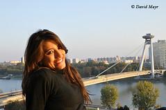 Latina girl portrait UFO Bratislava