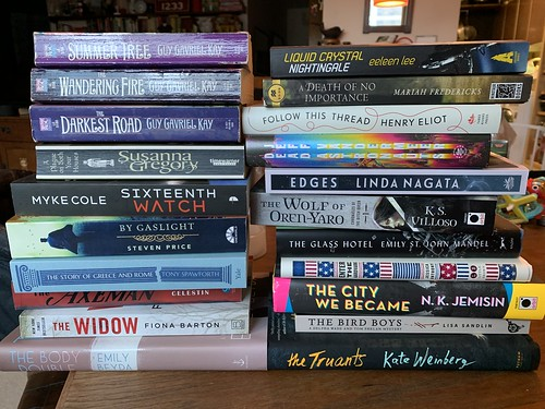 The books I've bought during the Pandemic.  No, I have't read any of them yet.