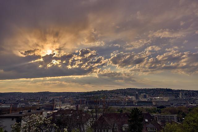 Sonnenuntergang, Stuttgart