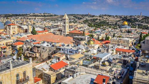 old city from david tower israel jerusalem latin quarter viewed middleeast il east middle israeli isl jérusalem 耶路撒冷 иерусалим القُدس יְרוּשָׁלַיִם church bell redeemer town view aerial belltower altstadt golden dome