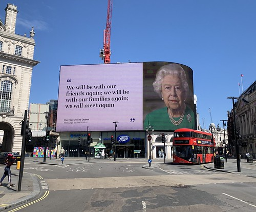 Queen Elizabeth II Piccadilly Square takeover