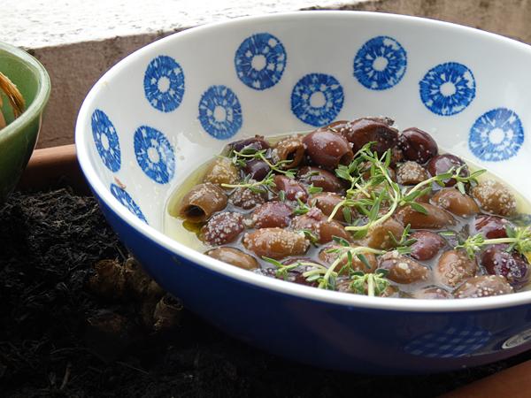 olives au thym
