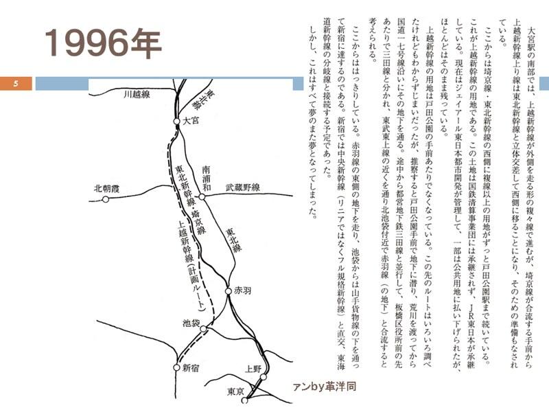 川島令三の上越新幹線新宿ルートの変遷を追う (5)