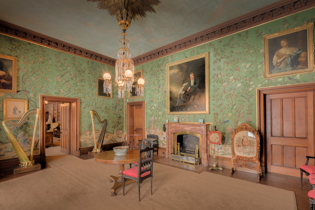 The drawing room inside Abbotsford House in Scotland [OC][8687x5791]