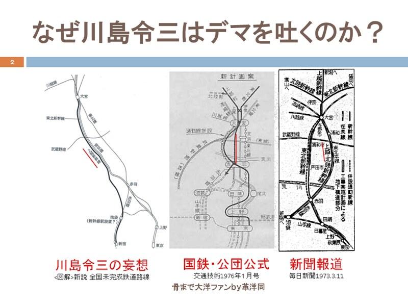 川島令三の上越新幹線新宿ルートの変遷を追う (2)