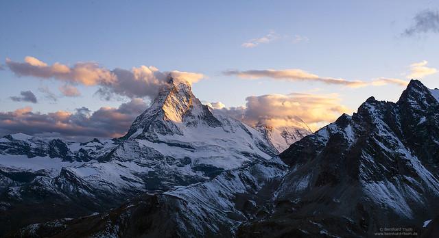 Evening light at Matterhorn