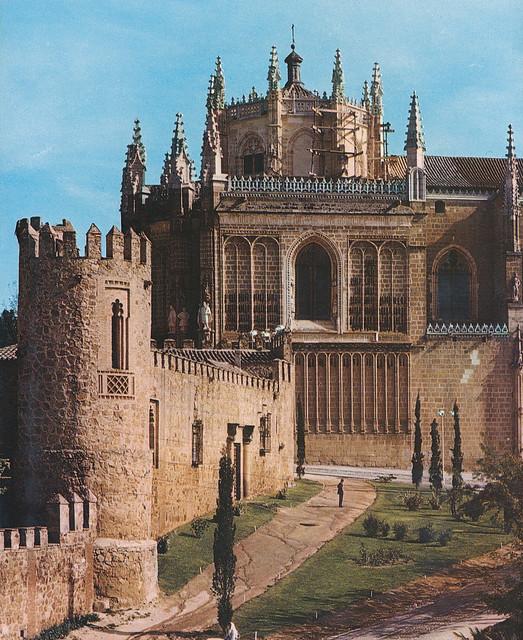 Palacio de los Duques de Maqueda y San Juan de los Reyes en Toledo hacia 1970 fotografiados por Mario Carrieri