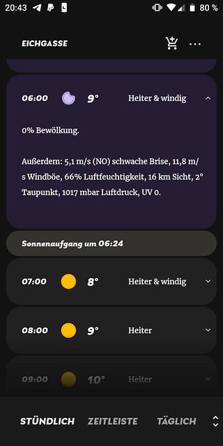 Appy Weather: Wetter Bechtolsheim