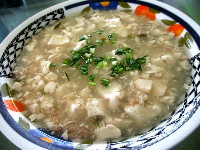 Tofu soup, thick version